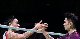 Kento Momota defeats Lin Dan in Hong Kong Open first round. (photo: AFP)