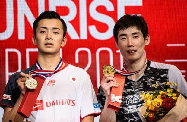 Congratulations to Son Wan-Ho (R) for winning the 2018 Hong Kong Open. (photo: AFP)