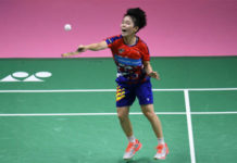 Goh Jin Wei claims a Korea Masters second round victory over Zhang Yiman of China. (photo: AFP)