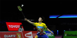Goh Jin Wei to play the London Olympic champion Lee Xuerui for the first time on Saturday. (photo: AFP)