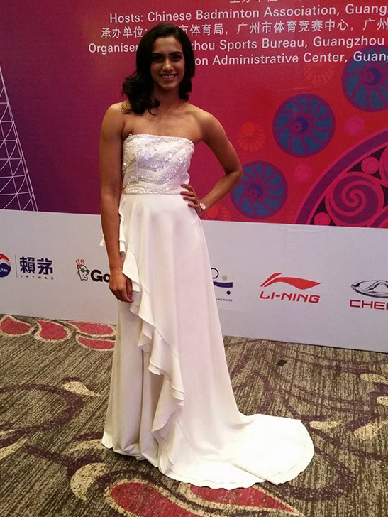 Simplicity of PV Sindhu's gown is so beautiful. (photo: BWF)