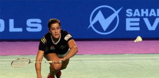 Carolina Marin wins smartest player of the tie after Monday's match against Zhang Beiwen. (photo: PBL)