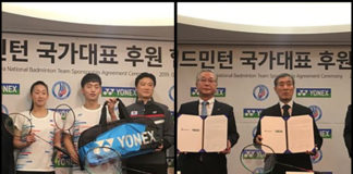 Badminton Korea Association (BKA) signs four-year agreement with Yonex. (photo: Yonex)