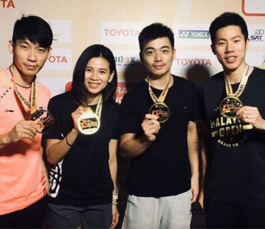 Chan Peng Soon/Goh Liu Ying and Goh V Shem/Tan Wee Kiong have been serving as each other's coaches during the tournament.