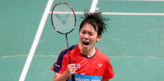 Goh Jin Wei advances to German Open semi-finals with hard-fought win against Zhang Beiwen on Friday. (photo: Bernama)