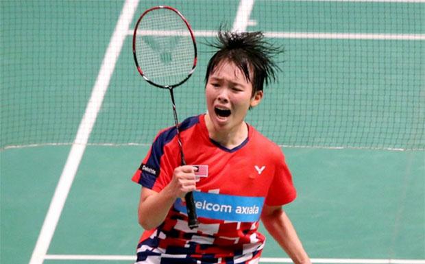 Goh Jin Wei advances to German Open semi-finals with hard-fought win against Zhang Beiwen on Friday. (photo: Bernama)