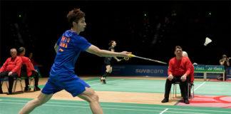 Shi Yuqi claims the 2019 Swiss Open title. (photo: Swiss Open)