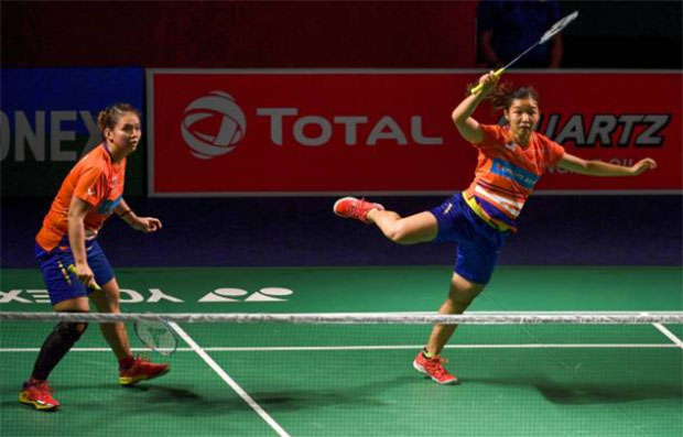 Chow Mei Kuan/Lee Meng Yean advance to the 2019 India Open semi-final. (photo: Money Sharma/Afp/Getty Images)