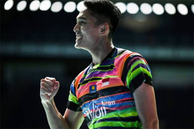 Jonatan Christie enters the semi-finals of Malaysia Open. (photo: Mohd Rasfan/Afp/Getty Images)