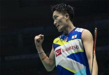 Kento Momota is on course to defend the Badminton Asia Championships title. (photo: Xinhua)