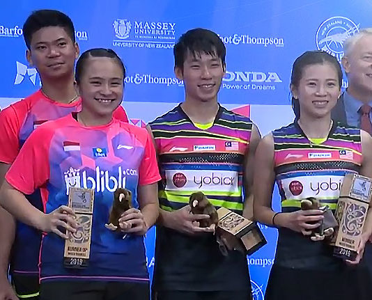 Congratulations Chan Peng Soon/Goh Liu Ying's outstanding performance for winning the 2019 New Zealand Open.