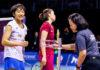 An Se Young (left) upsets Li Xuerui to win the 2019 New Zealand Open. (photo: BWF)