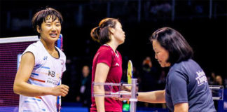 An Se Young (left) upsets Li Xuerui to win the 2019 New Zealand Open. (photo: BWF)