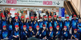 Malaysia's Sudirman Cup Squad departs for 2019 Sudirman Cup in Nanning, China. (photo: BAM)