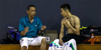 Misbun Sidek (L) has a close relationship with Lee Chong Wei both on and off the court. (photo: Bernama)