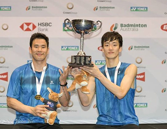 Winning the 2019 Australian Open is a huge motivation for Ko Sung Hyun/Shin Baek Cheol. (photo: Australian Badminton Open)