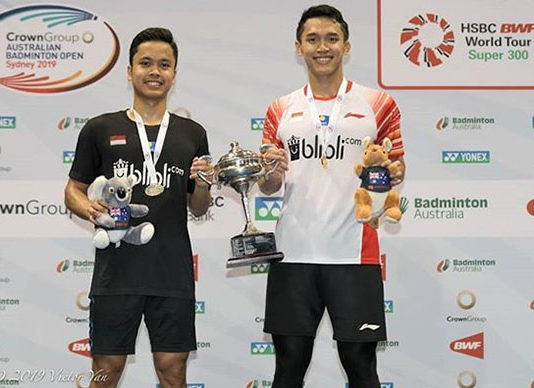 Jonatan Christie needs to maintain stable performance in order to become one of the world's best player. (photo: Australian Badminton Open)