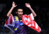 Thank you Lee Chong Wei for all the great memories, both on and off the court. (photo: AFP)