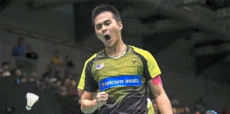 Soong Joo Ven is a rising badminton player with big dreams. (photo: Bernama)