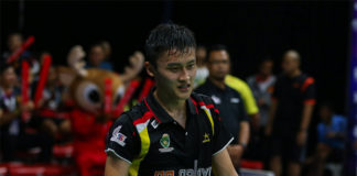 Lim Chong King earns a chance to practice with the Malaysian senior players. (photo: Purple League)