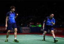 Aaron Chia/Soh Wooi Yik to meet Marcus Fernaldi Gideon/Kevin Sanjaya Sukamuljo in the 2019 Japan Open quarter-finals. (photo: Robertus Pudyanto/Getty Images)