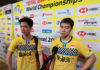 Marcus Fernaldi Gideon and Kevin Sanjaya Sukamuljo once again miss the chance of winning the World Championships. (photo: BWF)