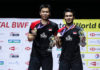Hendra Setiawan/Mohammad Ahsan win their third world championships title as a pair. (photo: Shi Tang/Getty Images)