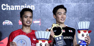 Kento Momota wins the 2019 China Open title. (photo: Xinhua)