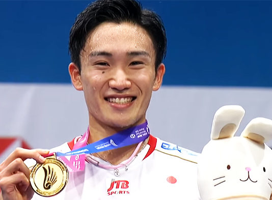 Kento Momota is the new king of badminton.