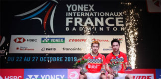 Kevin Sanjaya Sukamuljo/Marcus Fernaldi Gideon win the 2019 French Open. (photo: Shi Tang/Getty Images)