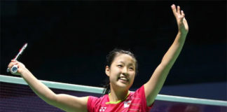 Nozomi Okuhara becomes the new World No. 1 women's singles player. (photo: AFP)