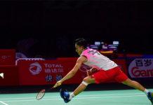 Kento Momota is on course to defend the Fuzhou China Open title. (photo: Xinhua)