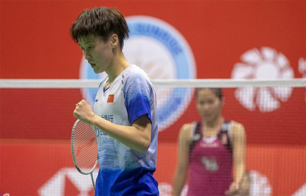 Chen Yufei beats Ratchanok Intanon for the 11th-time in 2019 Hong Kong Open final. (photo: Xinhua)