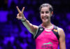 Carolina Marin claims the 2019 Syed Modi Super 300 title. (photo: Shi Tang/Getty Images)