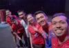 Iskandar Zulkarnain, Jonatan Christie, Goh Liu Ying, Lee Chong Wei, Chan Peng Soon and Woon Khe Wei pose for picture. (photo: Iskandar Zulkarnain's Instagram)