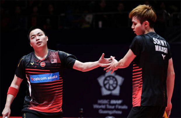 Aaron Chia/Soh Wooi Yik get off to a good start in Malaysia Masters first round. (photo: Bernama)