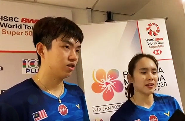Wish Man Wei Chong/Pearly Tan Koong Le best of luck in the Malaysia Masters second round.