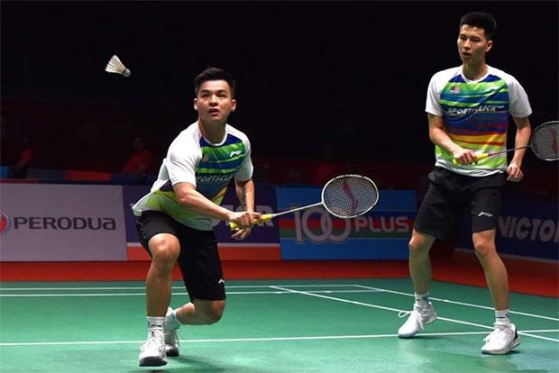 Ong Yew Sin/Teo Ee Yi face Aaron Chia/Soh Wooi Yik in Indonesia Masters quarters. (photo: Bernama)
