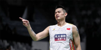 Lin Dan is not as formiddable as he used to be. (photo: Shi Tang/Getty Images)