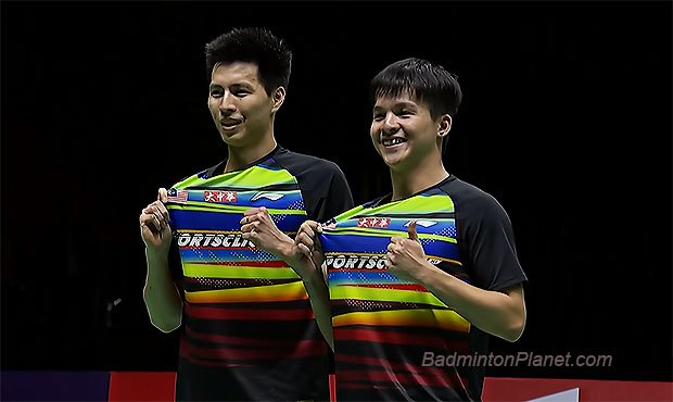 Congratulations to Teo Ee Yi (R) and Ong Yew Sin for winning the 2020 Thailand Masters title.