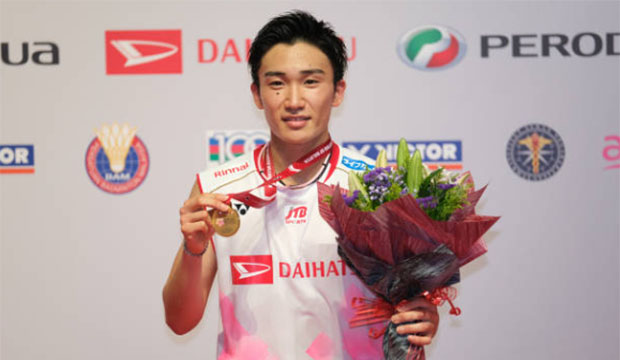 Happy to see Kento Momota return to action. (photo: How Foo Yeen/Getty Images)