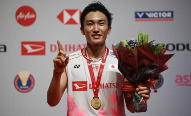 Kento Momota to rest for another 3 months after eye surgery on Saturday. (photo: Mohd Rasfan/AFP Via Getty Images)