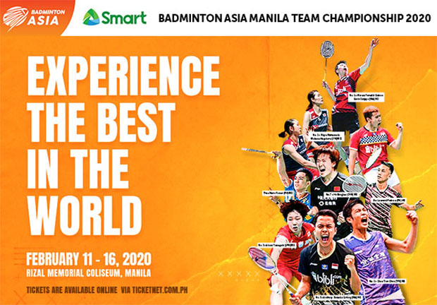Philippines has banned China and Hong Kong from Asian Badminton Championships due to Coronavirus outbreak. (photo: Badminton Asia)