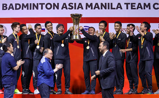 Indonesia wins the 2020 Asia Team Championships. (photo: PBSI)