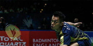 Lin Dan faces Chen Long in the 2020 All England second round. (photo: AFP)