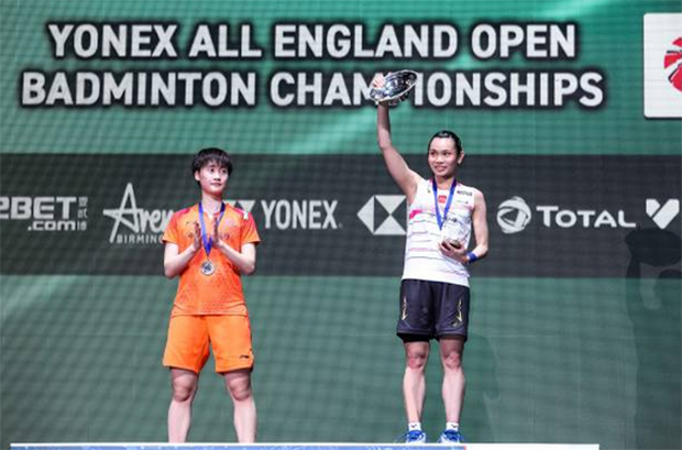 Congratulations to Tai Tzu Ying for winning her third All England title. (photo: Shi Tang/Getty Images)