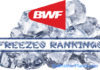 Badminton World Federation (BWF) Freezes Rankings.