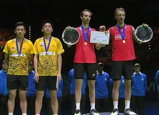 Mathias Boe/Carsten Mogensen beat Koo Kien Keat/Tan Boon Heong 15-21, 21-18, 21-18 in the 2011 All England men's doubles final.