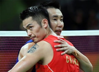 Both Lee Chong Wei and Lin Dan have ruled the badminton world over the last two decades. (photo: Xinhua)