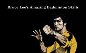 Bruce Lee's amazing badminton skills. (photo & video: Bruce Lee's official Twitter, Wallpapercave.com)